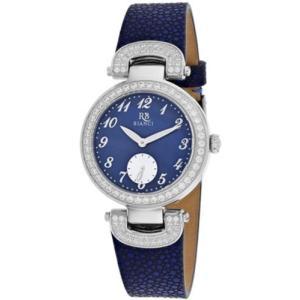 腕時計 ロベルトビアンキ レディース Roberto Bianci Women's Alessandra Stainless Steel/Blue Leather Watch RB0615|aurora-and-oasis