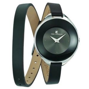 腕時計 テット ラピドス レディース Ted Lapidus Women's Classic Quartz Stainless Steel/Black Leather Watch A0549RNNN|aurora-and-oasis