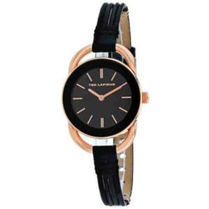 腕時計 テット ラピドス レディース Ted Lapidus Women's Classic Rose Gold Stainless Steel/Leather Watch A0681UNINN|aurora-and-oasis