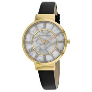 腕時計 テット ラピドス レディース Ted Lapidus Women's Classic Quartz Stainless Steel/Black Leather Watch A0713PARN|aurora-and-oasis