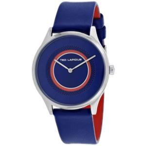 腕時計 テット ラピドス レディース Ted Lapidus Women's Classic Quartz Stainless Steel/Blue Leather Watch A0715IDIB|aurora-and-oasis