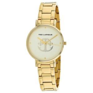 腕時計 テット ラピドス レディース Ted Lapidus Women's Classic Quartz Gold Tone Stainless Steel Watch A0742PTPX|aurora-and-oasis