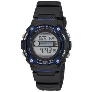 腕時計 カシオ メンズ Casio Men's Digital Solar Powered 100m Black Resin Watch WS210H-1AV|aurora-and-oasis