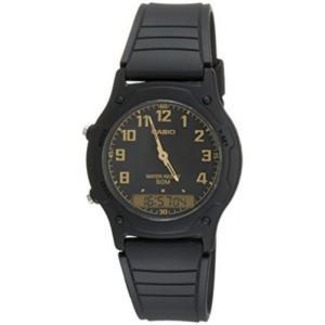 腕時計 カシオ メンズ Casio Men's Analog and Digital Black Tone Resin Dual Time Watch AW49H-1B|aurora-and-oasis