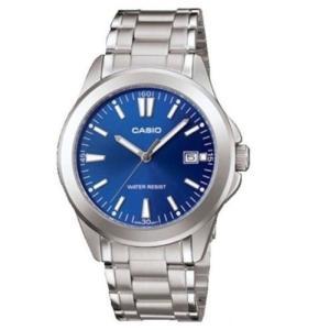 腕時計 カシオ メンズ Casio Men's Analog Blue Dial Stainless Steel Watch MTP1215A-2A2|aurora-and-oasis