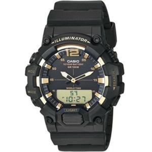腕時計 カシオ メンズ Casio Men's Analog-Digital 10-Year Battery 100m Black Resin Watch HDC700-9AV|aurora-and-oasis