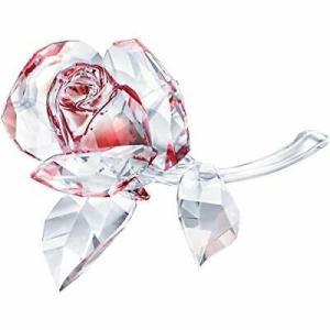 置き物 スワロフスキー 薔薇 Swarovski Blossoming Rose, Red Crystal Gifts Clear 5428561|aurora-and-oasis