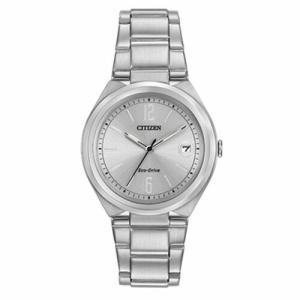腕時計 シチズン レディース Citizen Women's FE6021-88A Chandler Silver Eco-Drive Watch|aurora-and-oasis