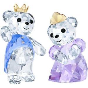 置き物 スワロフスキー プリンス&プリンセス Swarovski Kris Bear - Prince   Princess Crystal Figurines 5301569|aurora-and-oasis