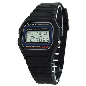 腕時計 カシオ メンズ Casio Men's Casual Classic Digital Alarm Micro Light Black Resin Watch W59-1V|aurora-and-oasis
