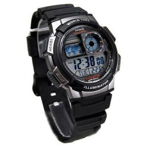 腕時計 カシオ メンズ Casio Men's AE1000W-1BVCF Silver-Tone and Black Digital Sport Watch|aurora-and-oasis
