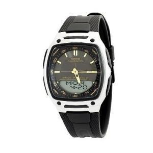腕時計 カシオ メンズ Casio Men's World Time Databank Illuminater Watch AW81-1A2V|aurora-and-oasis