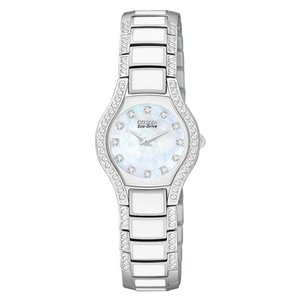 腕時計 シチズン レディース Citizen Women's Normandie Crystal Accent Stainless Steel Watch EW9870-81D|aurora-and-oasis