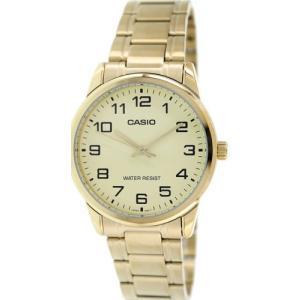 腕時計 カシオ メンズ Casio Men's Analog Quartz Gold Tone Stainless Steel Watch MTPV001G-9B|aurora-and-oasis