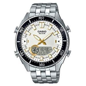 腕時計 カシオ メンズ Casio Men's 'Ana-Digi' Metal and Stainless Steel Casual Watch AMW-720D-7AVCF|aurora-and-oasis