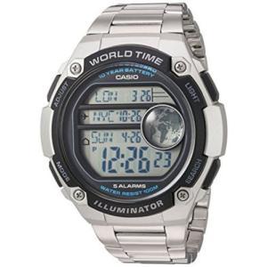 腕時計 カシオ メンズ Casio Men's Digital 100m Silver Resin/Stainless Steel Watch AE3000WD-1AV|aurora-and-oasis