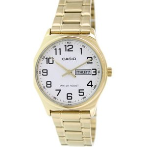腕時計 カシオ メンズ Casio Men's Analog Quartz Day/Date Gold Tone Stainless Steel Watch MTPV003G-7B|aurora-and-oasis