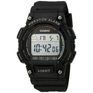 腕時計 カシオ メンズ Casio Men's Illuminator Digital 100m Quartz Resin Black Watch W736H-1AV|aurora-and-oasis
