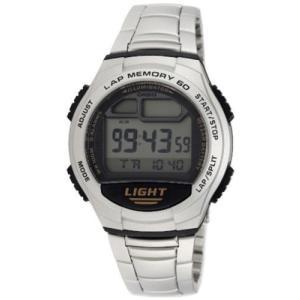 腕時計 カシオ メンズ Casio Men's Digital Quartz 60-Lap Memory Resin / Stainless Steel Watch W734D-1AV|aurora-and-oasis