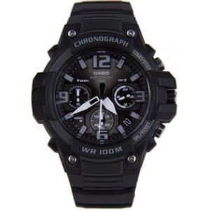 腕時計 カシオ メンズ Casio Men's Chronograph Quartz 100m Black Resin Watch MCW100H-1A3V|aurora-and-oasis