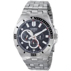 腕時計 カシオ メンズ Casio Men's Chronograph Stainless Steel Dive Watch MTD-1060D-1AVDF|aurora-and-oasis