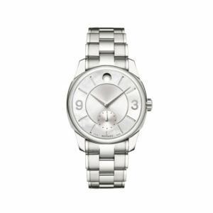 腕時計 モバード レディース Movado Women's 0606618 LX Silver-Tone Quartz Watch|aurora-and-oasis
