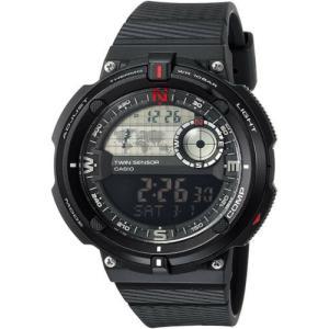 腕時計 カシオ メンズ Casio Men's 'Twin Sensor' Quartz Black Resin Gray Dial Watch SGW-600H-1B|aurora-and-oasis