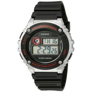 腕時計 カシオ メンズ Casio Men's Illuminator Quartz Gray Resin Black Strap Watch W-216H-1CVCF|aurora-and-oasis