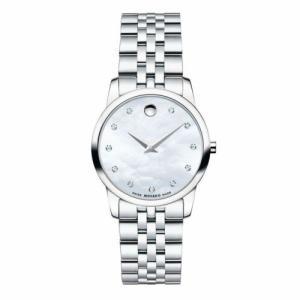腕時計 モバード レディース Movado Women's 0606612 Museum Silver Quartz Watch|aurora-and-oasis