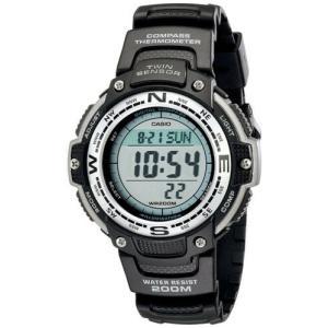 腕時計 カシオ メンズ Casio Men's Digital Compass Thermometer 200m Black Resin Watch SGW100-1|aurora-and-oasis