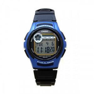 腕時計 カシオ メンズ Casio Men's Sports Digital 50m Dual Time Resin Blue Watch W213-2A|aurora-and-oasis