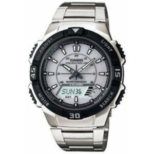 腕時計 カシオ メンズ Casio Men's Silver Tough Solar Sports Watch  AQS800WD-7EV|aurora-and-oasis