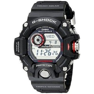 腕時計 カシオ メンズ Casio G-shock RANGEMAN Atomic Solar 3 Sensor Men's Digital Black Watch GW9400-1|aurora-and-oasis