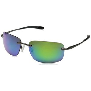 サングラス レヴォ メンズ Revo Men's Outlander Rimless Gunmetal Frame, Green Water Lens RE1029-00GN|aurora-and-oasis