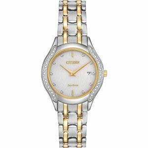 腕時計 シチズン レディース Citizen Eco-Drive Women's GA1064-56A Diamond Accents Two Tone Dress Watch|aurora-and-oasis