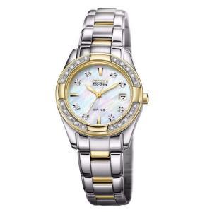 腕時計 シチズン レディース Citizen Eco-Drive Women's EW1824-57D Diamond Mother of Pearl Dial 26mm Watch|aurora-and-oasis