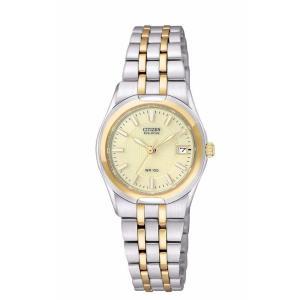 腕時計 シチズン レディース Citizen Eco-Drive Women's EW0944-51P Corso Two Tone Champagne Dial Watch|aurora-and-oasis