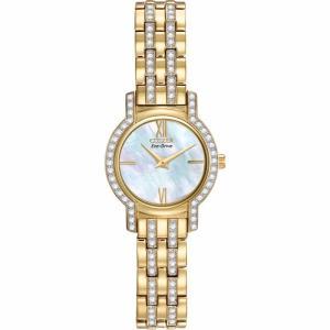 腕時計 シチズン レディース Citizen Eco-Drive Women's EX1242-56D Crystal Accents Gold-Tone 22mm Watch|aurora-and-oasis