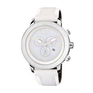 腕時計 シチズン レディース Citizen Eco-Drive Women's AT2200-04A Chronograph All White Leather Strap Watch|aurora-and-oasis