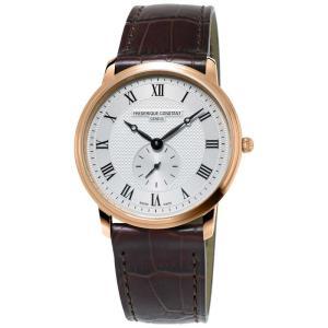 腕時計 フレデリック・コンスタント メンズ Frederique Constant Slimline Men's FC-235M4S4 Quartz Silver Dial 37mm Watch|aurora-and-oasis