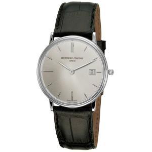 腕時計 フレデリック・コンスタント メンズ Frederique Constant Slimline Men's FC-220NS4S6 Quartz Silver Dial 37mm Watch|aurora-and-oasis