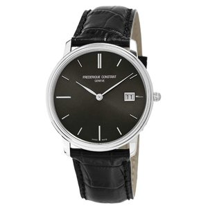 腕時計 フレデリック・コンスタント メンズ Frederique Constant Slimline Men's FC-220NG4S6 Quartz Black 37mm Watch|aurora-and-oasis