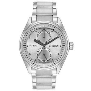 腕時計 シチズン メンズ Citizen Eco-Drive BU3010-51H Men's Paradex Silver-Tone Bracelet 43mm Watch|aurora-and-oasis