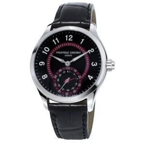 腕時計 フレデリック・コンスタント メンズ Frederique Constant Men's FC-285BBR5B6 Quartz Black Strap 42mm Smartwatch|aurora-and-oasis