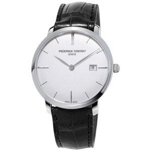 腕時計 フレデリック・コンスタント メンズ Frederique Constant Slimline Men's FC-306S4S6 Automatic Silver Date 40mm Watch|aurora-and-oasis