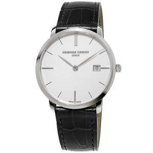 腕時計 フレデリック・コンスタント メンズ Frederique Constant Men's Slimline Quartz Silver Dial 38mm Watch FC-220S5S6|aurora-and-oasis