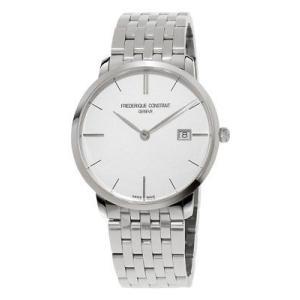 腕時計 フレデリック・コンスタント メンズ Frederique Constant Men's FC-220S5S6B Quartz Silver-Tone Bracelet 39mm Watch|aurora-and-oasis