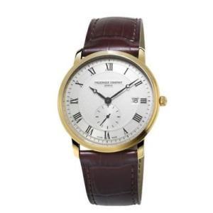 腕時計 フレデリック・コンスタント メンズ Frederique Constant Men's FC-245MS5S5 Quartz Silver Dial Gold Tone 39mm Watch|aurora-and-oasis