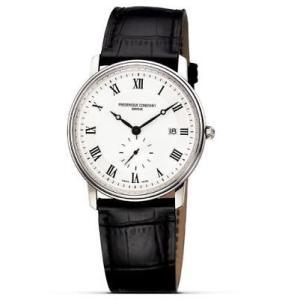 腕時計 フレデリック・コンスタント メンズ Frederique Constant Men's Quartz Silver Dial Black 39mm Watch FC-245MS5S6|aurora-and-oasis