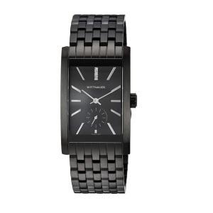 腕時計 ウィットナー メンズ Wittnauer Men's WN3069 Quartz Diamond Accents Black Bracelet 42mm Watch aurora-and-oasis
